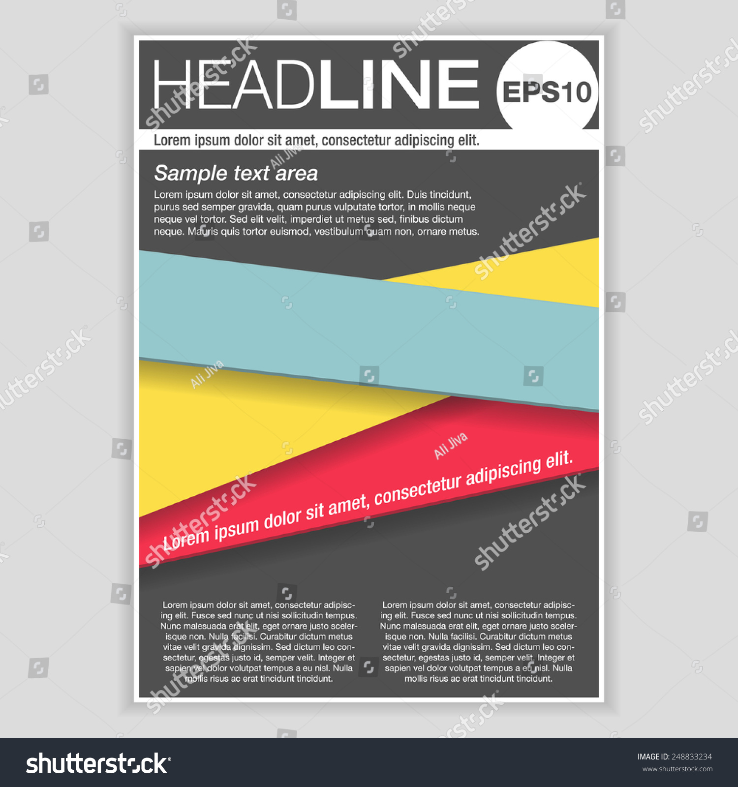 creative brochure template design abstract vector stock vector creative brochure template design abstract vector flyer pamphlet leaflet layout for marketing