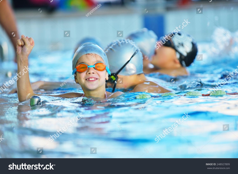 Happy Children Kids Group Swimming Pool Stock Photo 248927899 Shutterstock