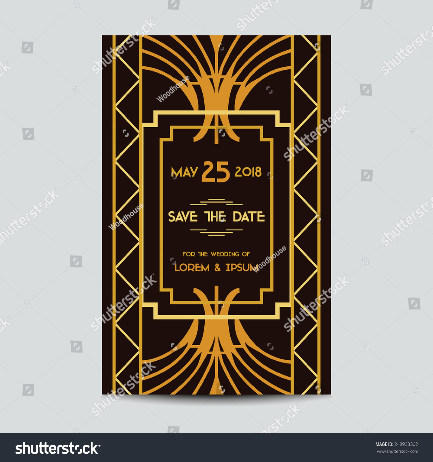 Save Date Wedding Invitation Card Art Stock Vector Royalty Free