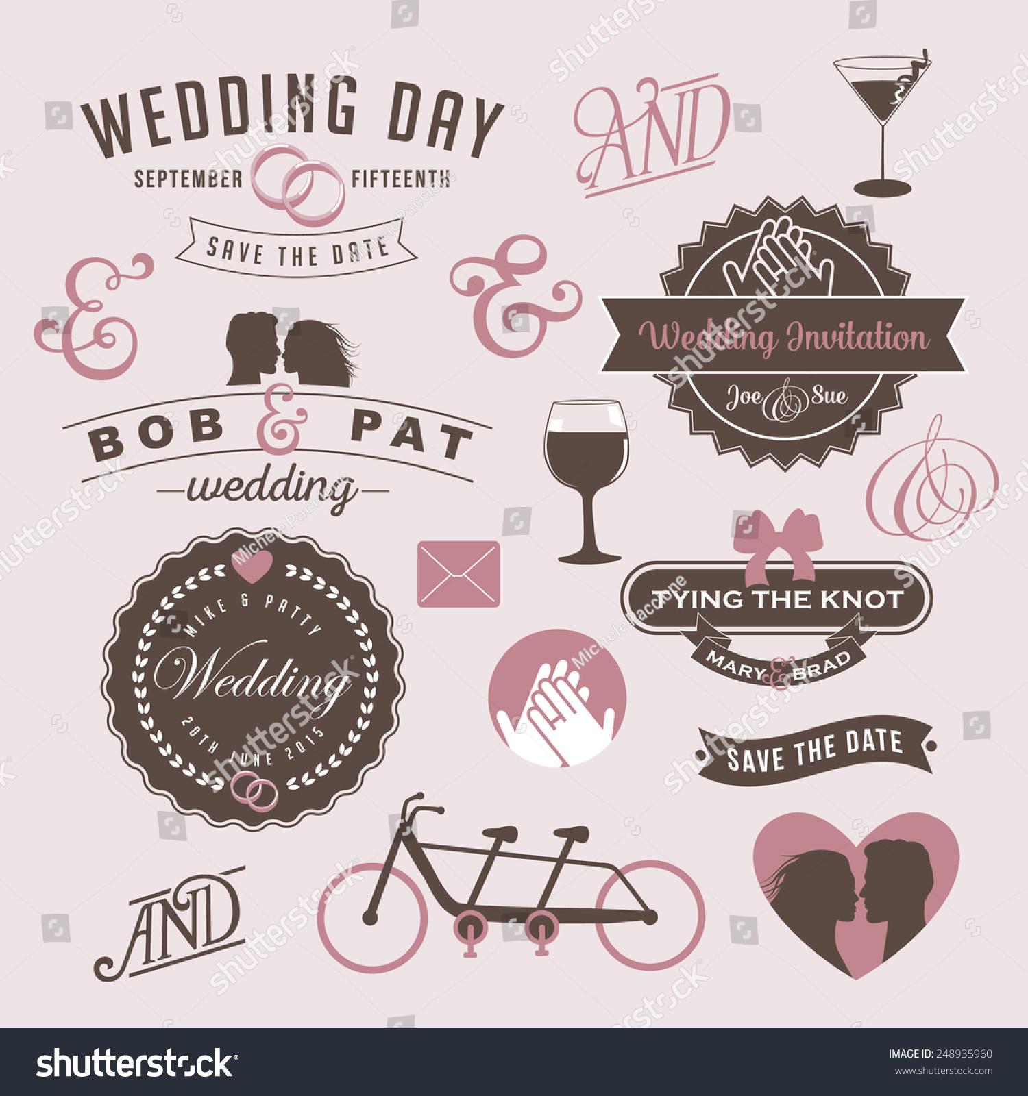 Vintage wedding invitation design graphic elements stock vector vintage wedding invitation design graphic elements eps 10 vector royalty free stock illustration stopboris Gallery
