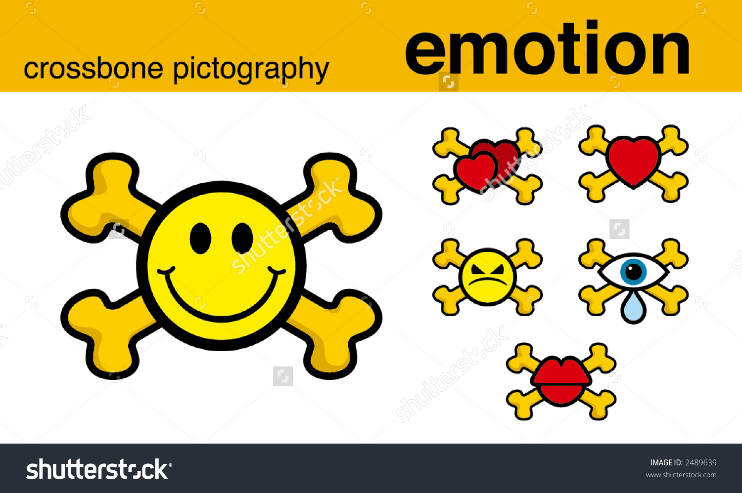emotion crossbone pictography vector illustration stock Mouth Clip Art Pink Lips Clip Art
