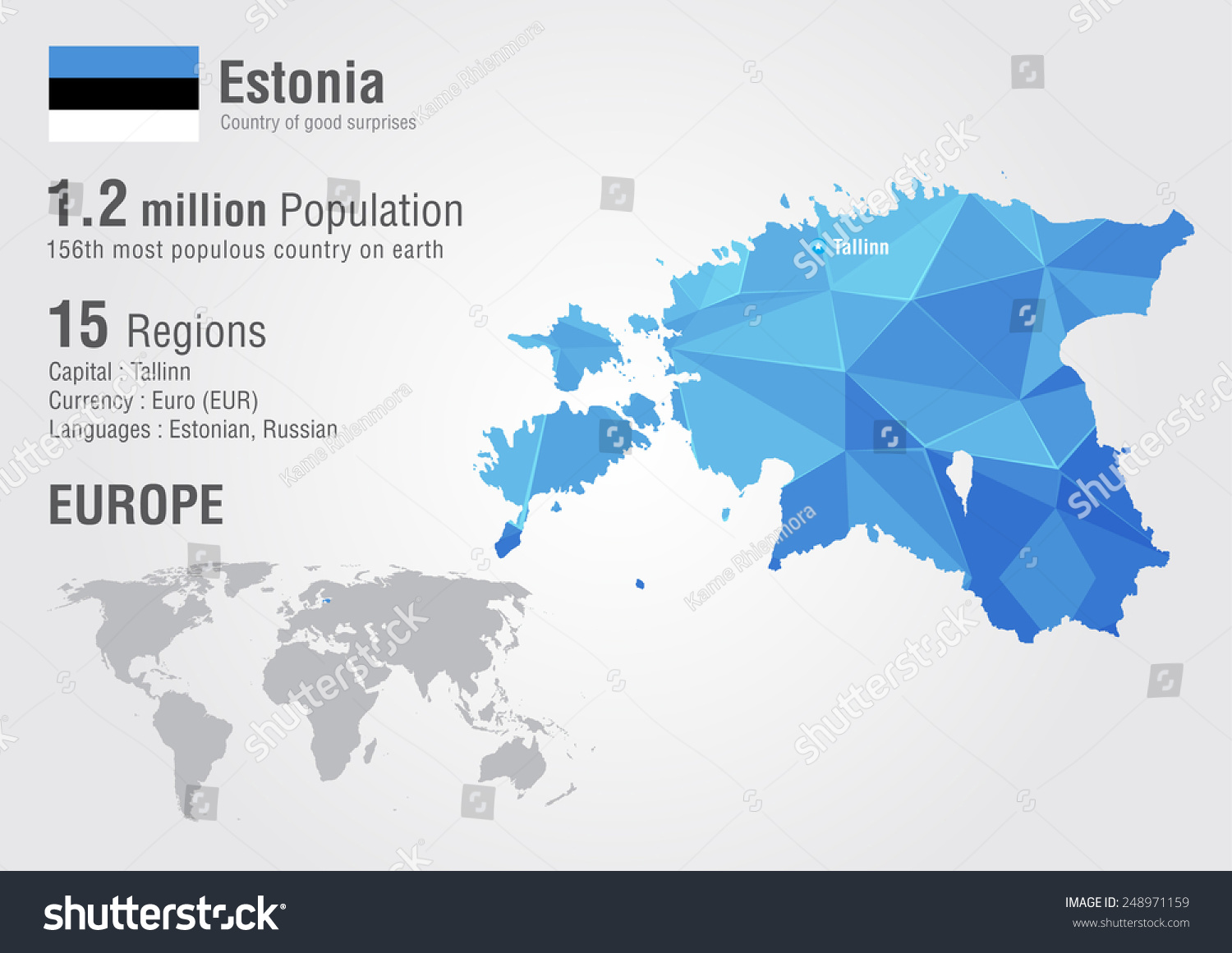 Estonia world map pixel diamond texture vector de stock248971159 estonia world map with a pixel diamond texture world geography gumiabroncs Gallery