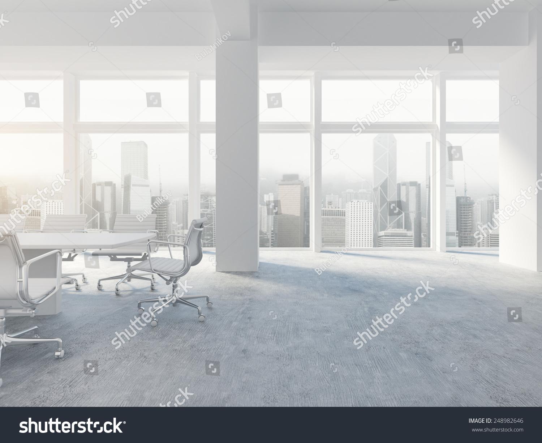 White office interior 3d rendering stock illustrationer for White office interior