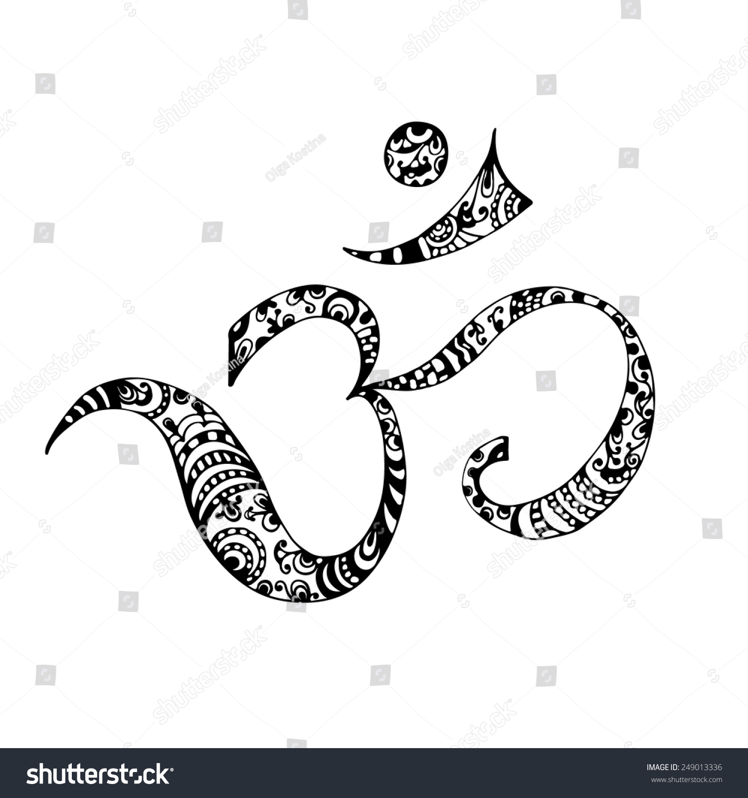 Hand drawn aum symbol sketch vector stock vector 249013336 hand drawn aum symbol sketch vector buycottarizona Image collections
