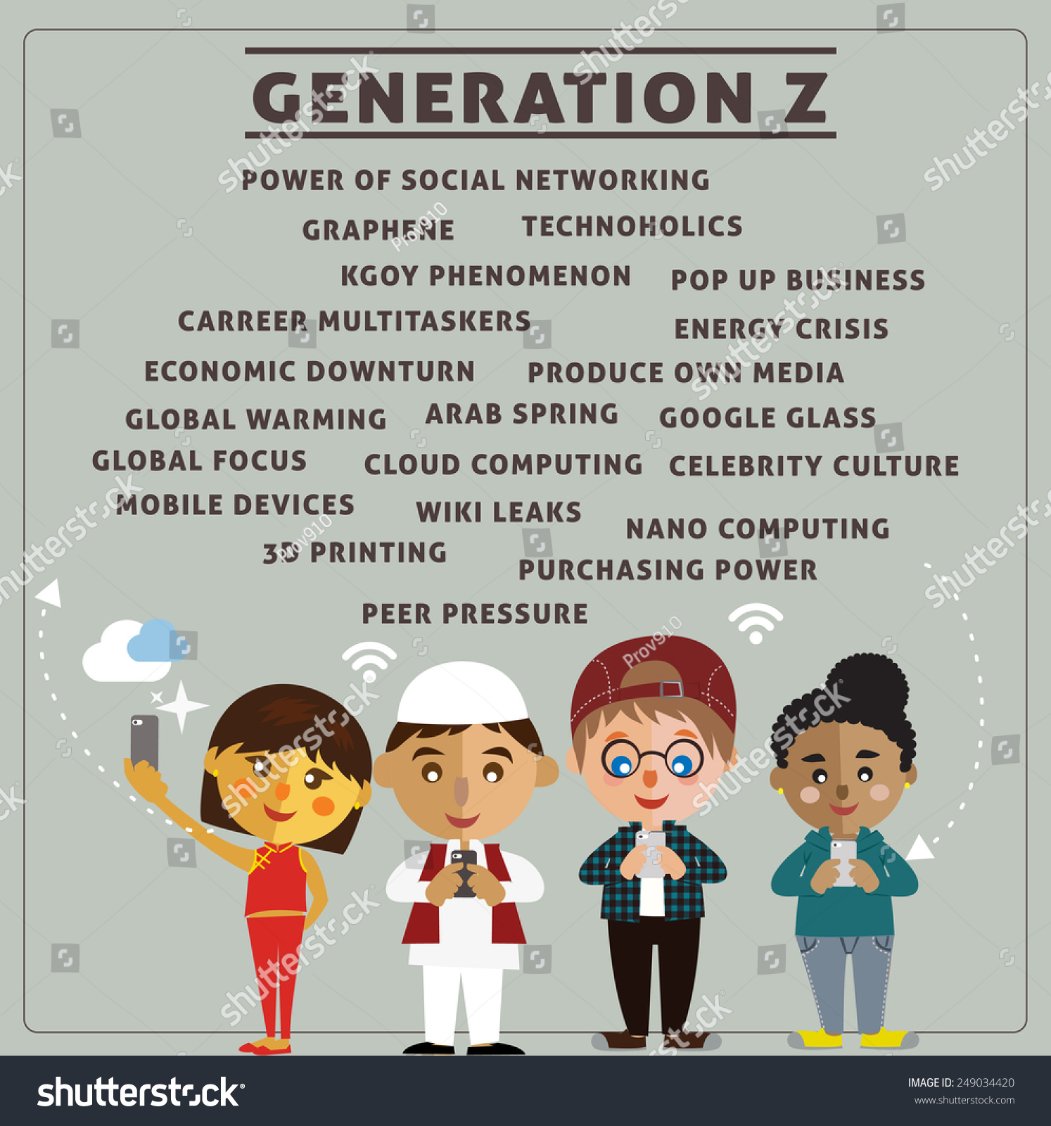 All About Generation Z Stock Vector 249034420 - Shutterstock