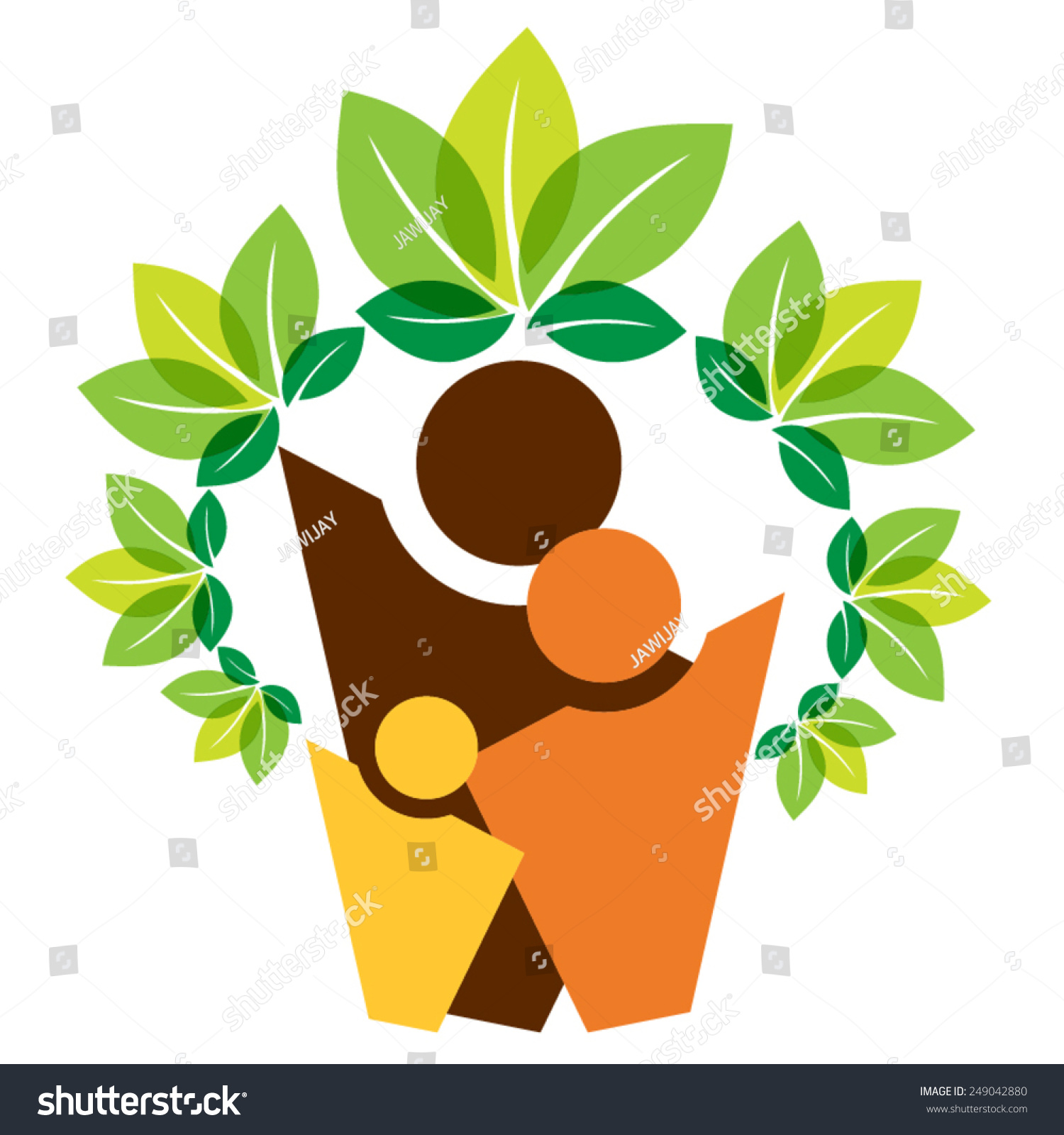 Growing family tree concept stock vector illustration for Growing families