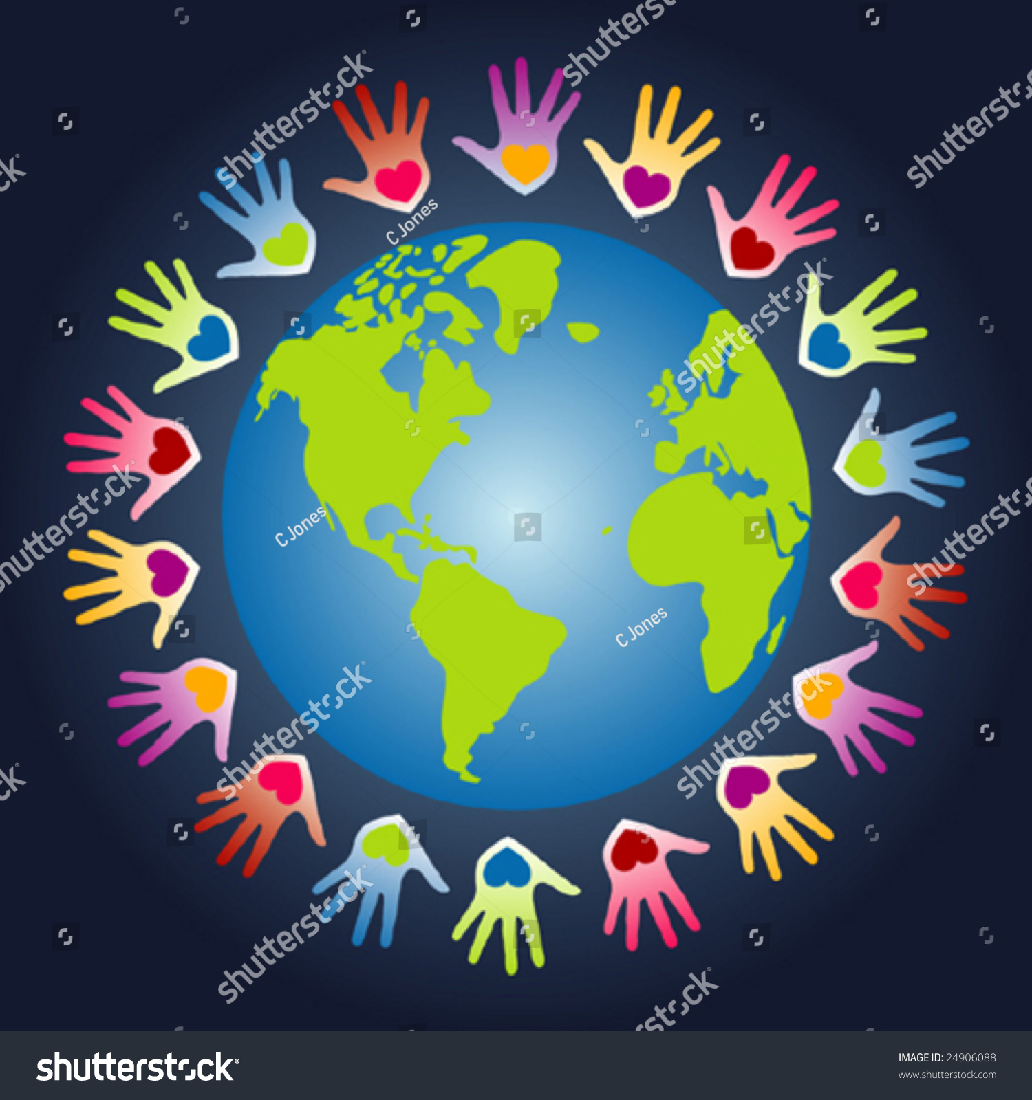 colorful world peace unity vector stock vector 24906088