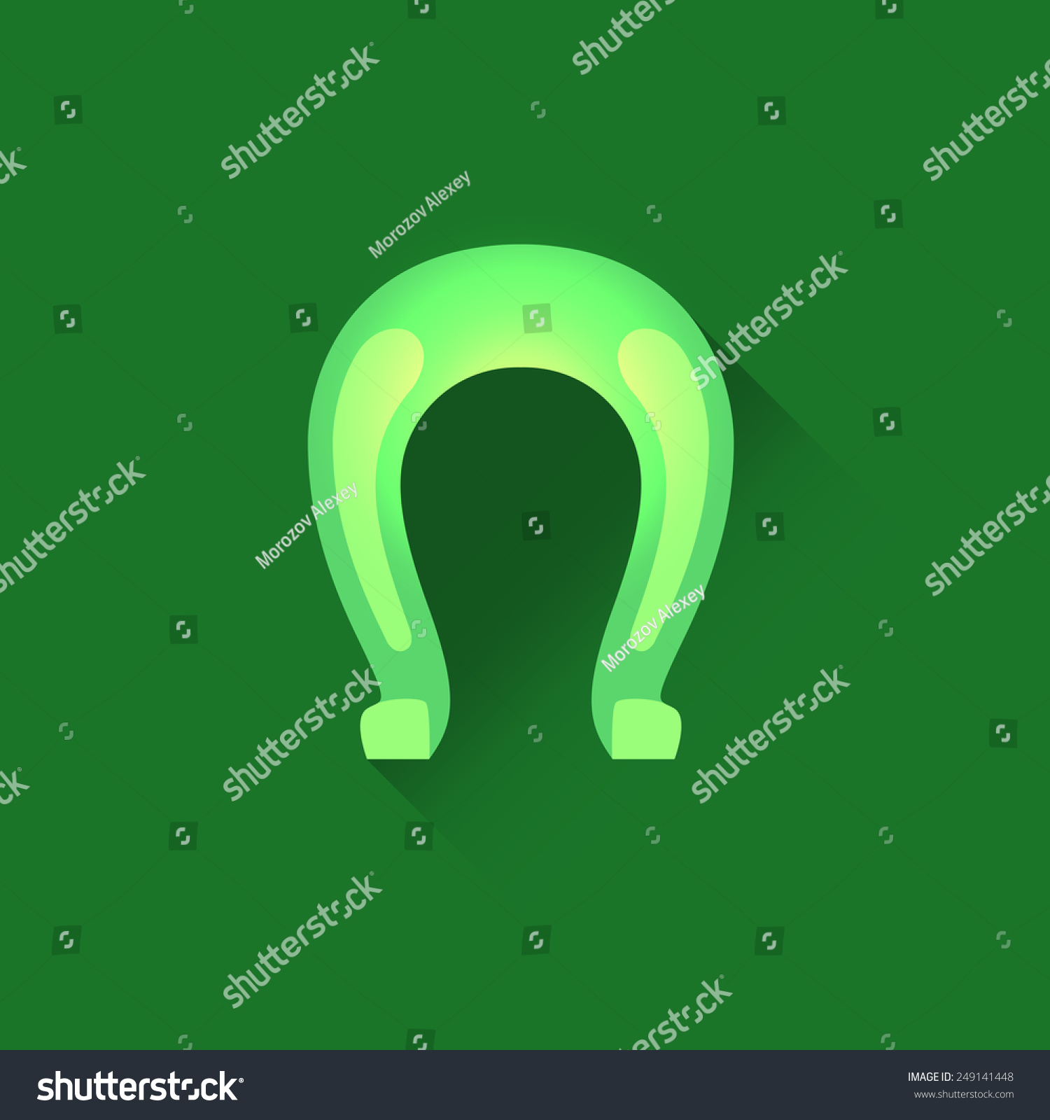 Vector Icon Horseshoe Green Color This Stock Vector 249141448 ...