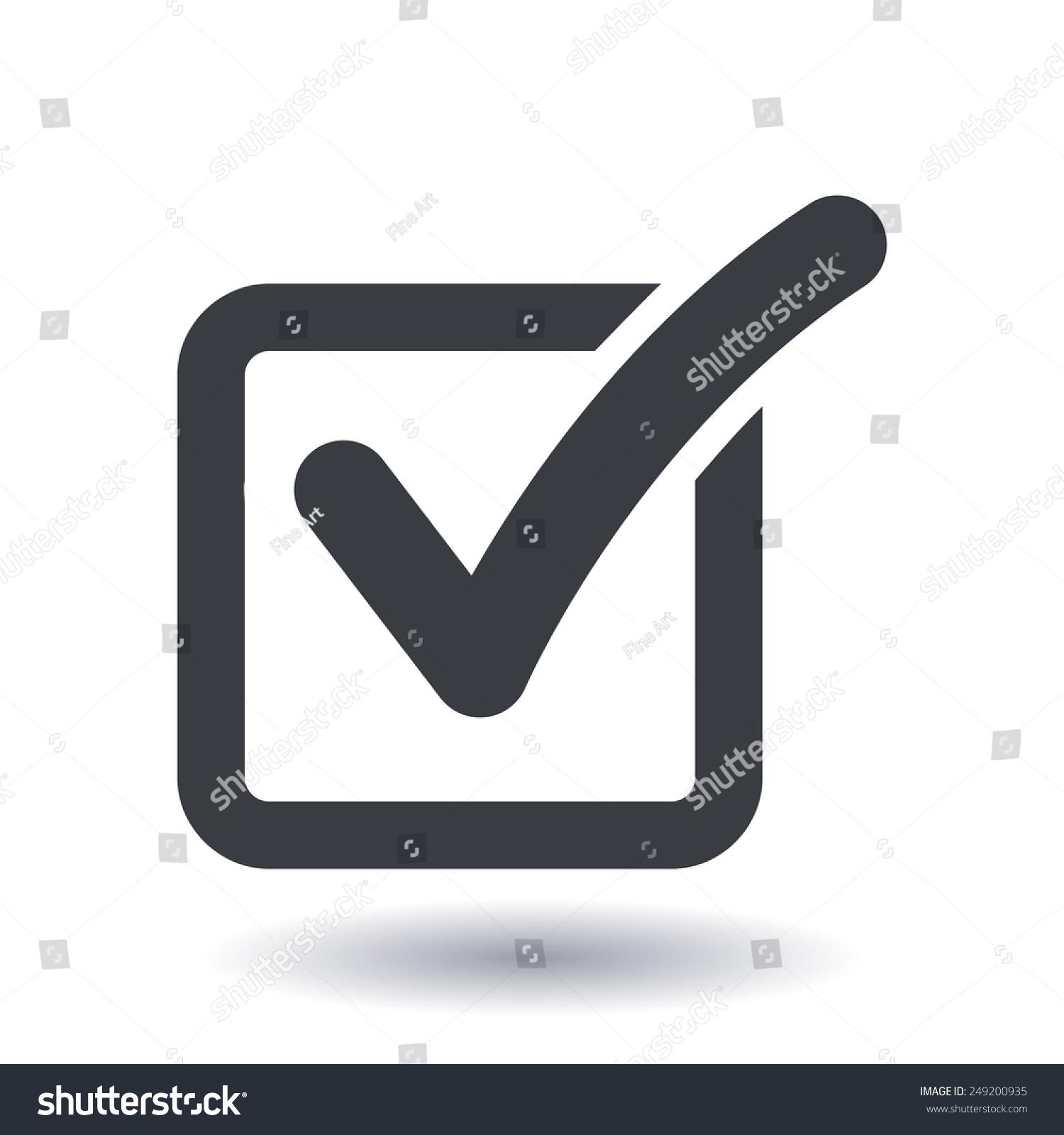 Check List Button Icon Check Mark Stock Vector Royalty Free