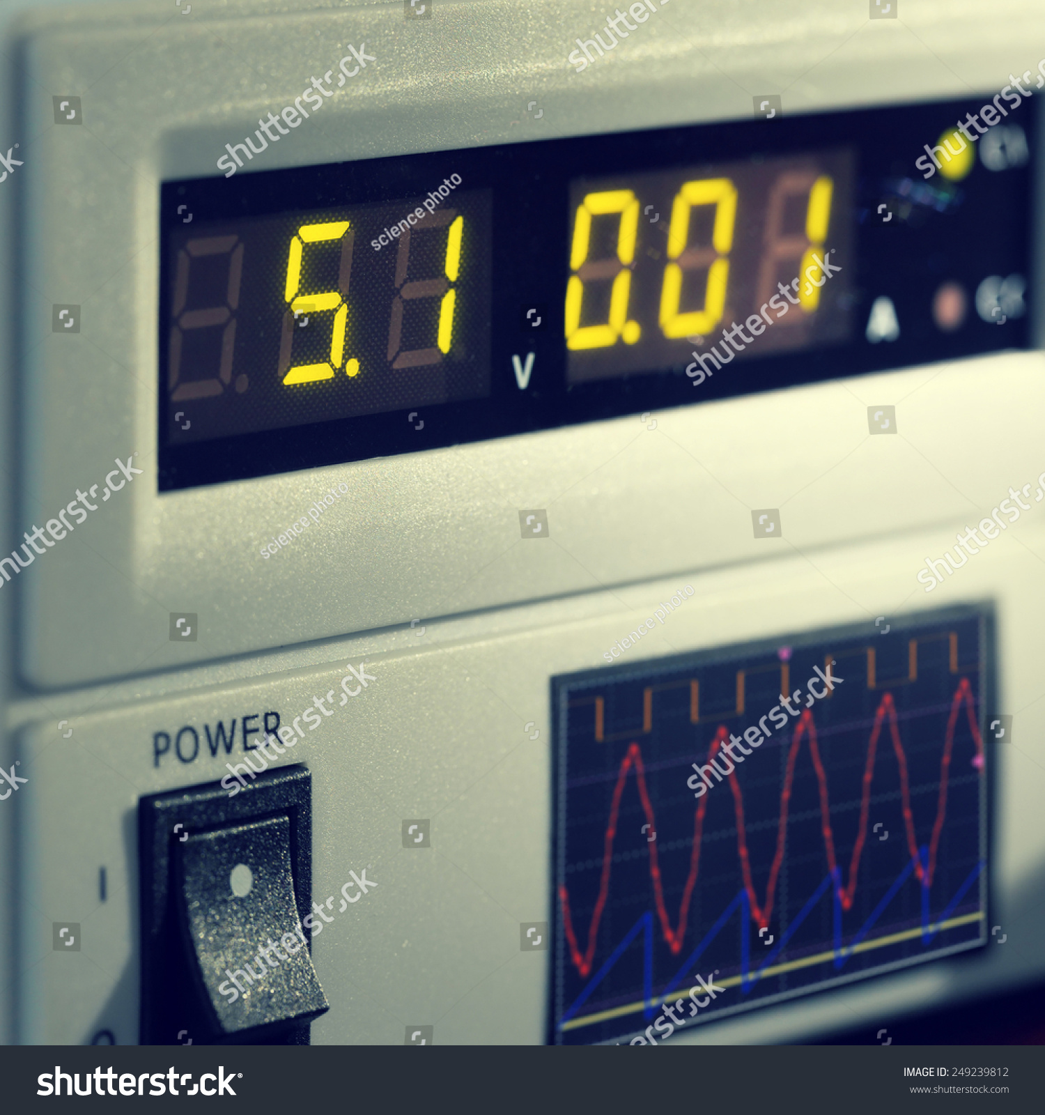 Electronic Measuring Equipment : Electronic measuring instruments stock photo