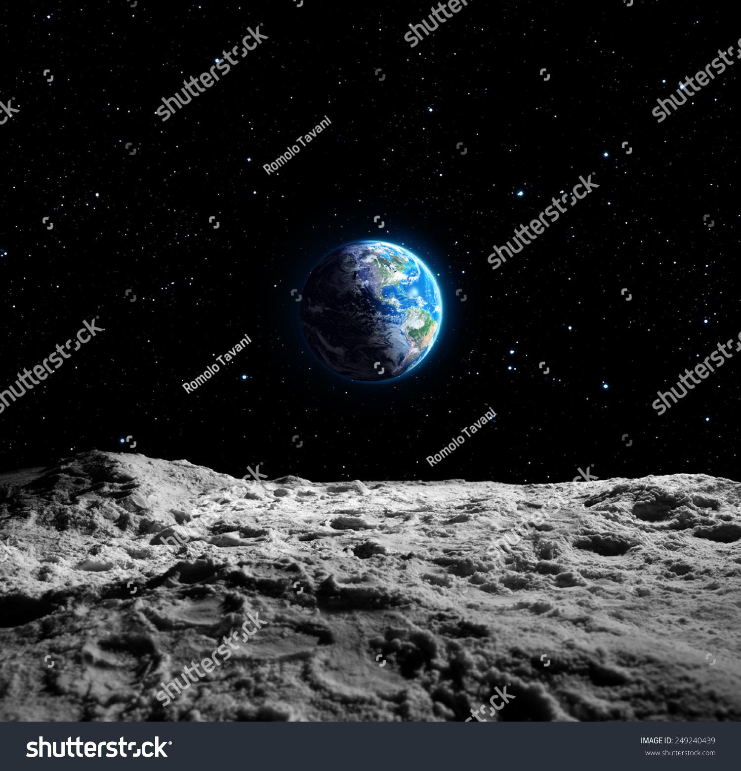 Views Earth Moon Surface Usa Map Stock Photo 249240439 ...