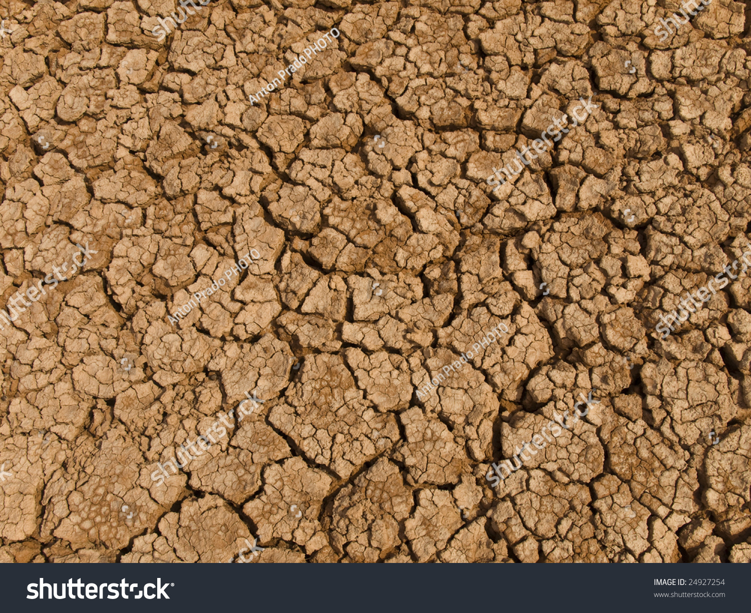 A baked earth soil after a long drought stock photo for Earth or soil