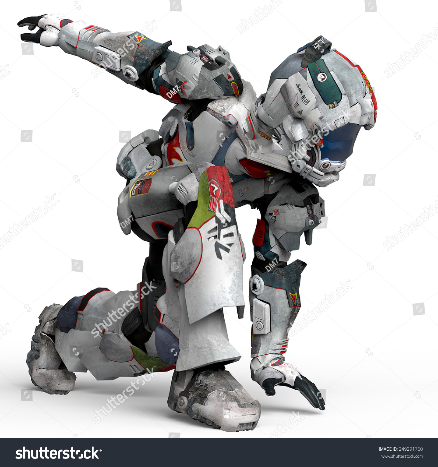 Astronaut Dance Crouched Side View Stock Photo 249291760 ...