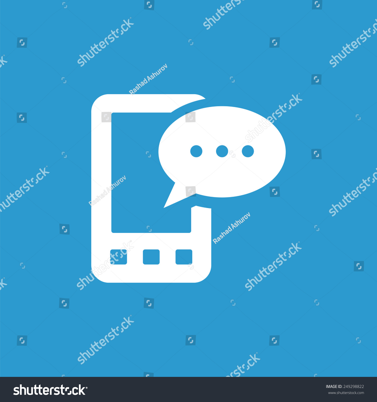Mobile message icon isolated white on stock illustration 249298822 mobile message icon isolated white on the blue background exclusive symbols biocorpaavc