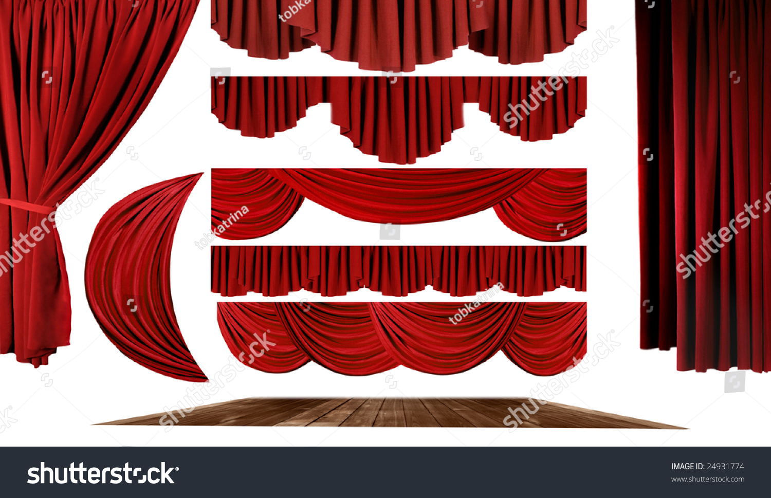 Stock photo dramatic red old fashioned elegant theater stage stock - Dramatic Red Old Fashioned Elegant Theater Stage Elements Of Swags To Make Your Own Background