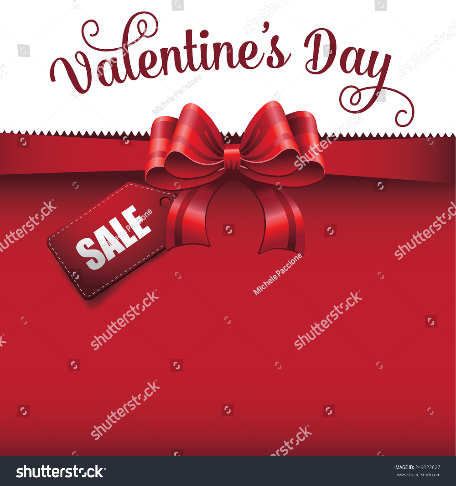 valentines day big red bow stock vector 249322627 shutterstock valentines day big red bow design advertising template background eps 10 vector royalty stock