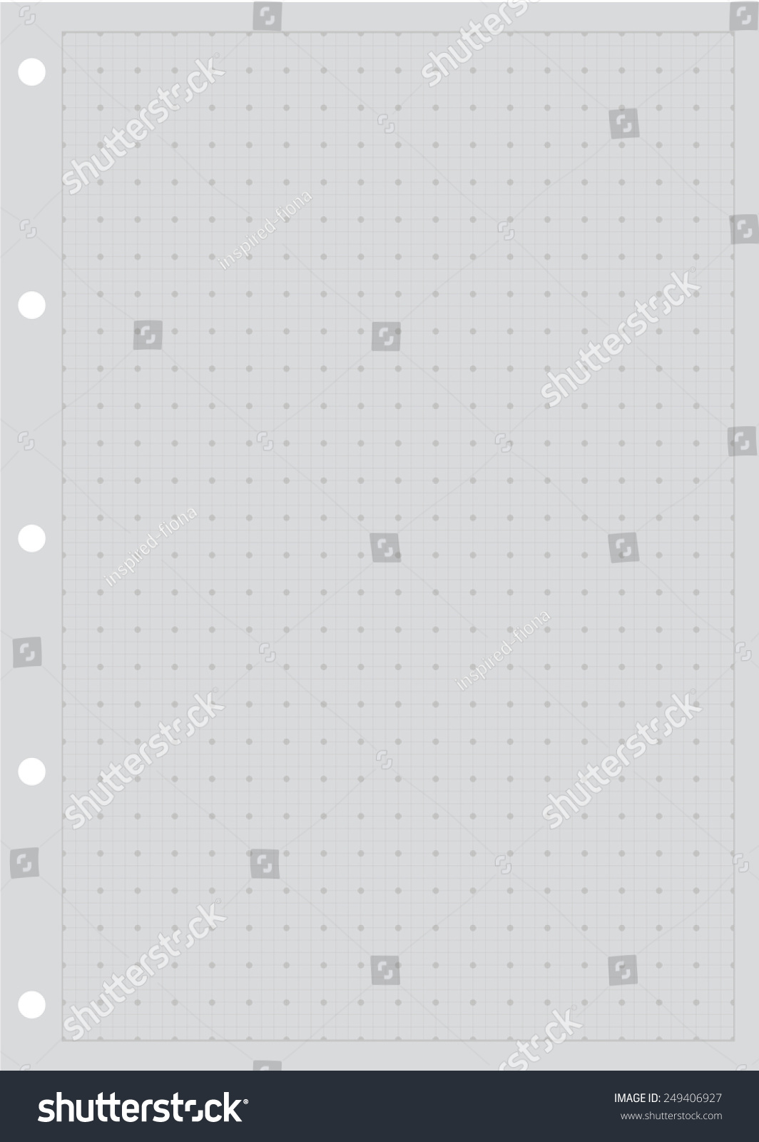 Sheet Paper Grid Notebook Graph Style Stock Vector 249406927 ...