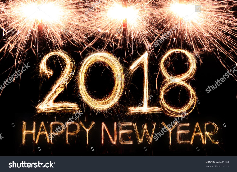 Royalty-free Happy new year 2018 written with… #249445198 Stock Photo  Avopi...