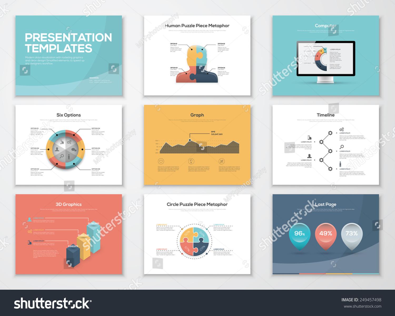 Business Presentation Templates Infographics Vector Elements – Business Presentation Template