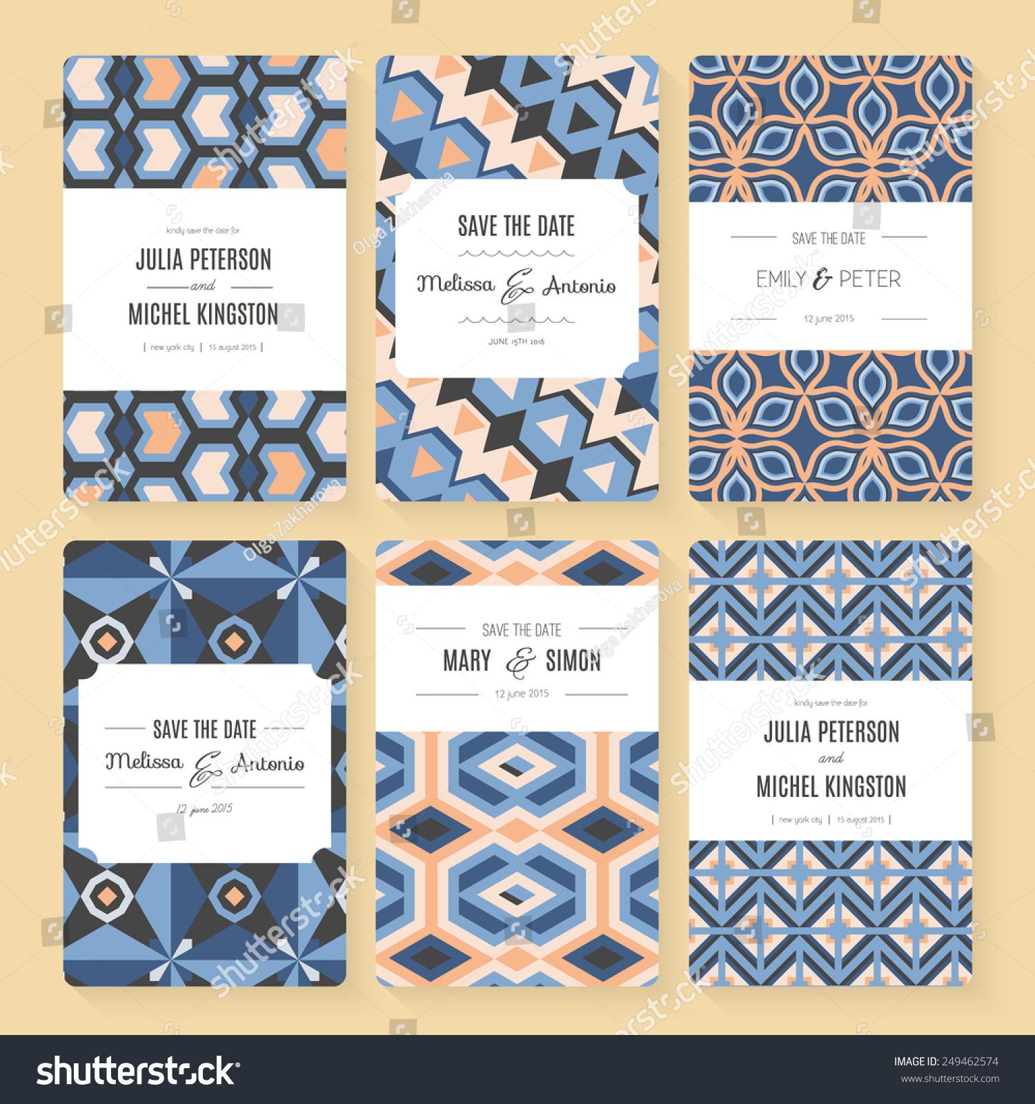 Stylish Save Date Wedding Invitation Card Stock Photo (Photo, Vector ...