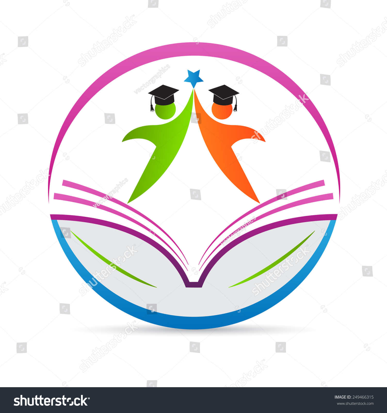 Royalty free education logo vector design represents for Painting and decorating logo ideas