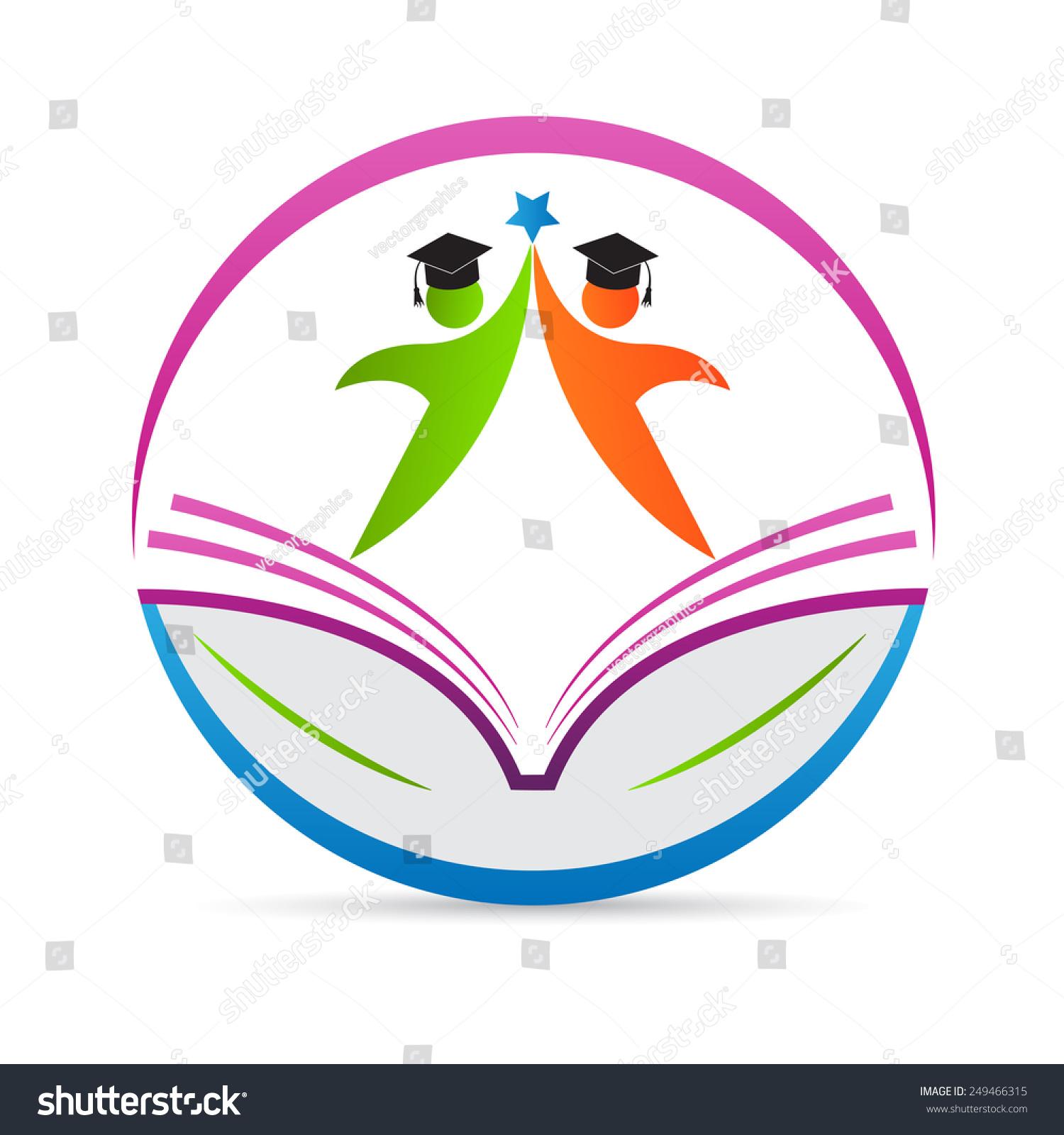 Line Art Logo Maker : Royalty free education logo vector design represents