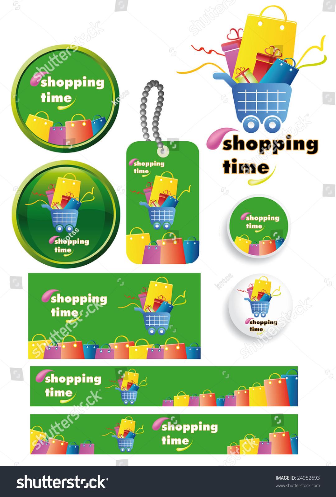 Shopping Time Vector Set Readymade Banners Stock Vector 24952693 ...