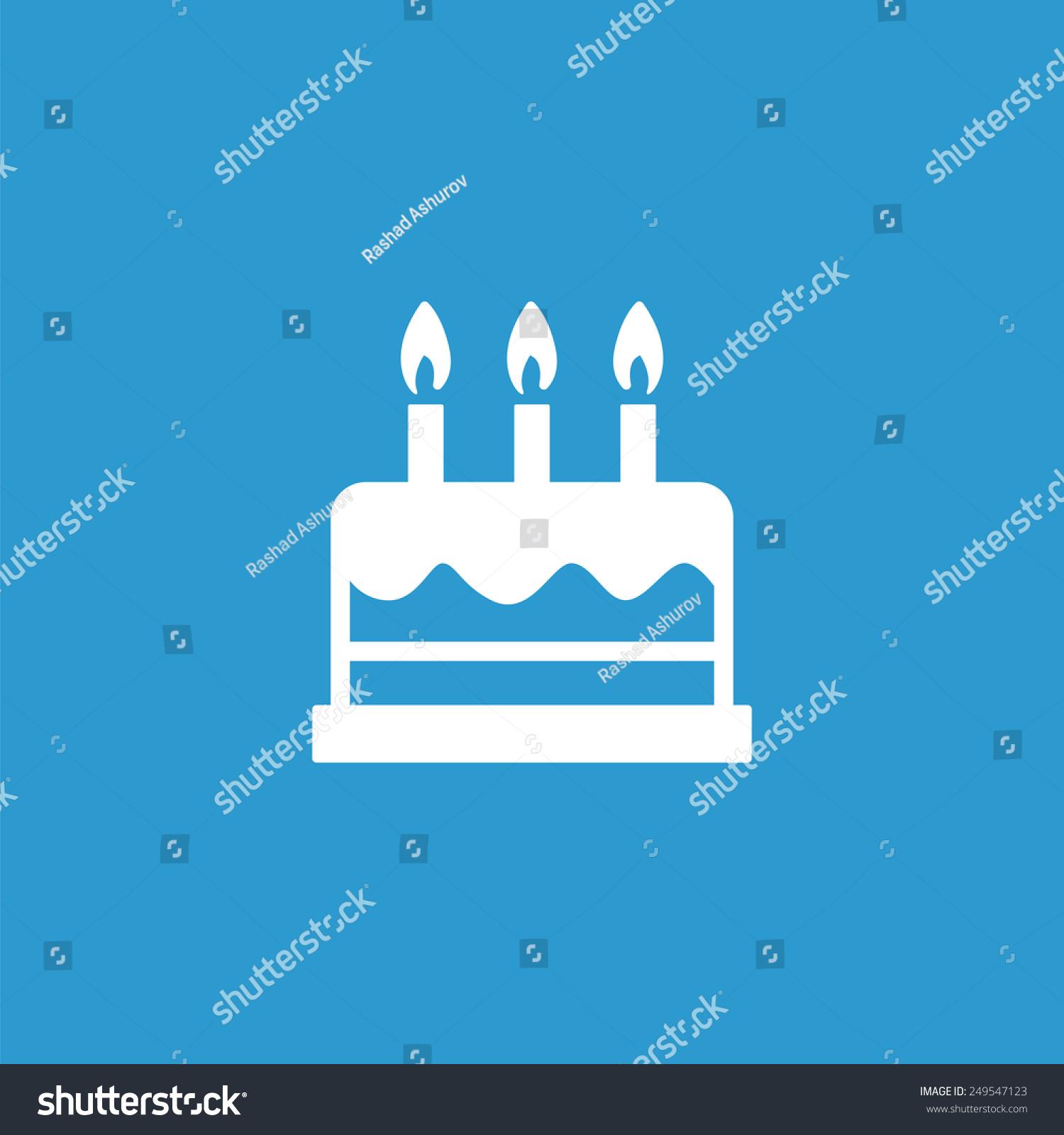 Cake icon isolated white on blue stock illustration 249547123 cake icon isolated white on the blue background exclusive symbols buycottarizona