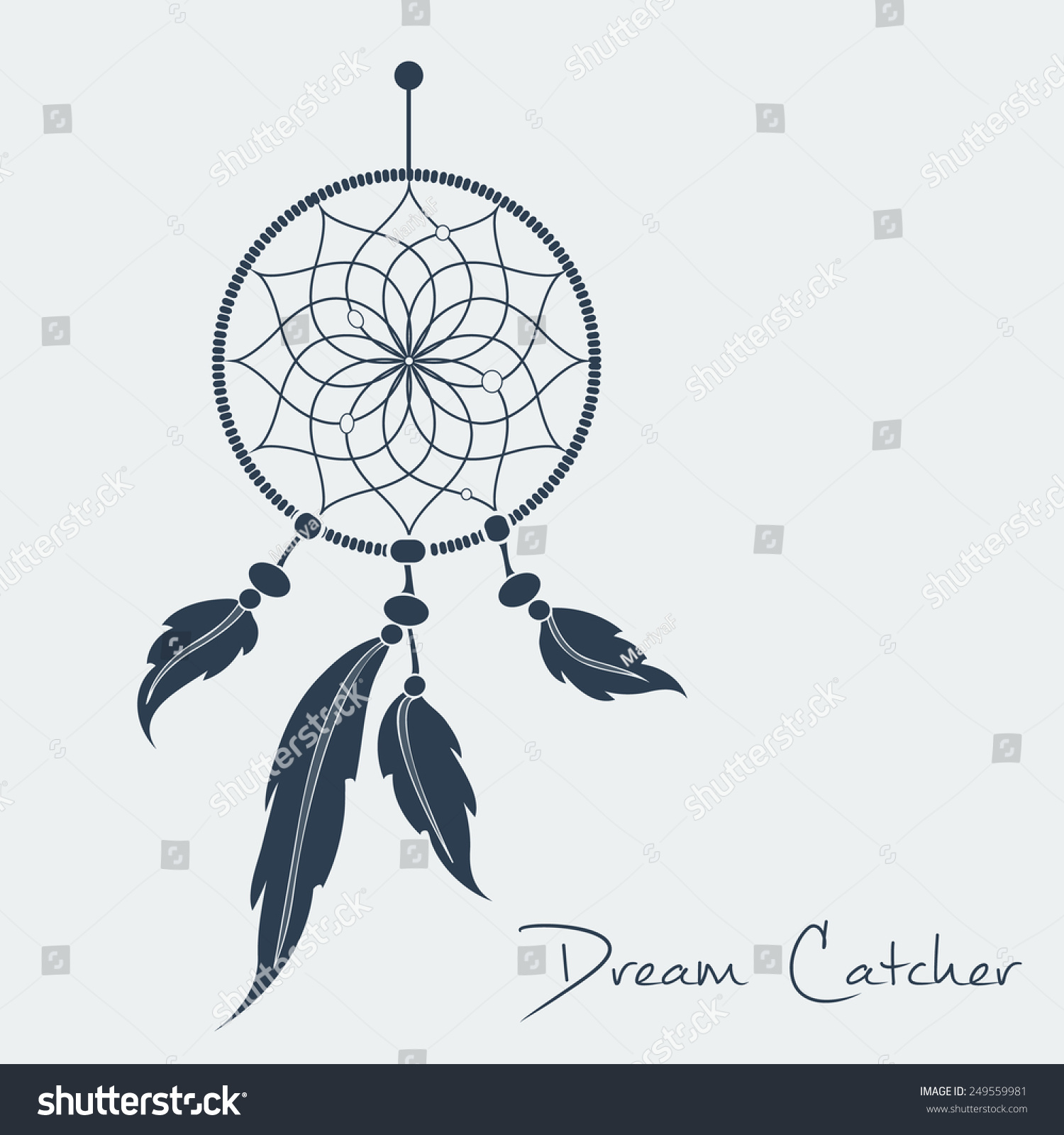 - Vector Dream Catcher Black Vector Format Stock Vector (Royalty