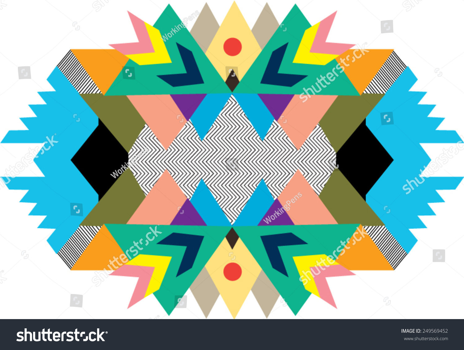 Stock Illustration Volleyball Tribal Abstract Vector: Tribal,Ethnic Print,Abstract And Geometric Stock Vector