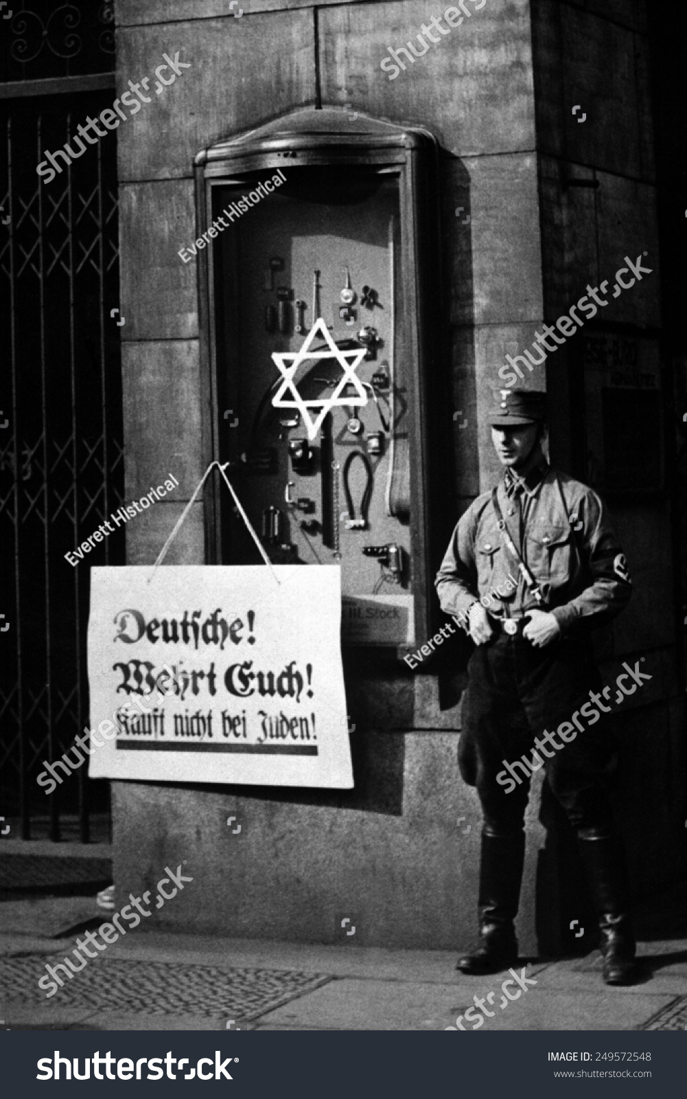Antisemitic Boycott Berlin Germany April 1 | The Arts Stock Image ...