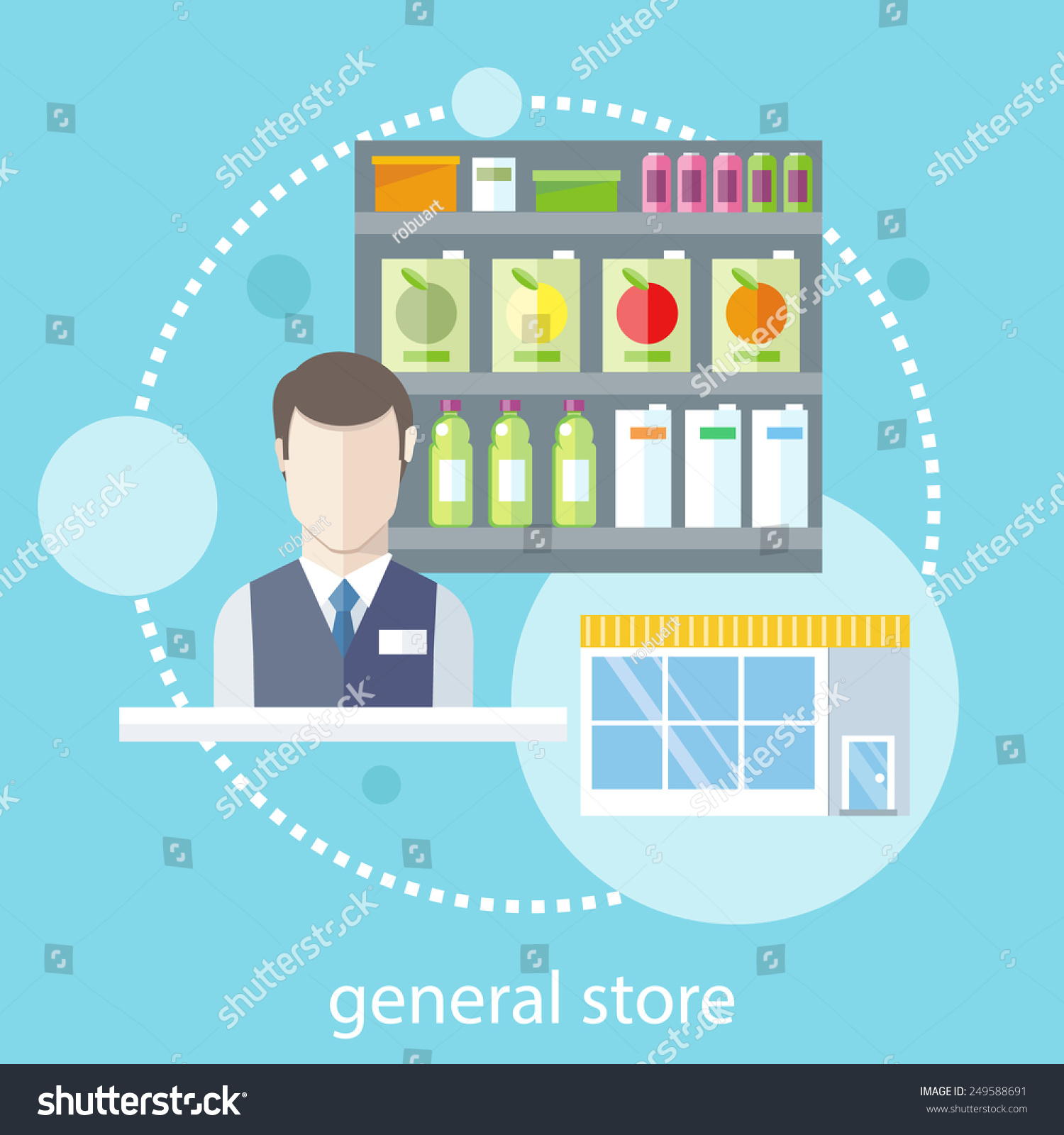 General Store Stock Photos General Store Stock Images: Supermarket General Store Shelfs Food Potables Stock