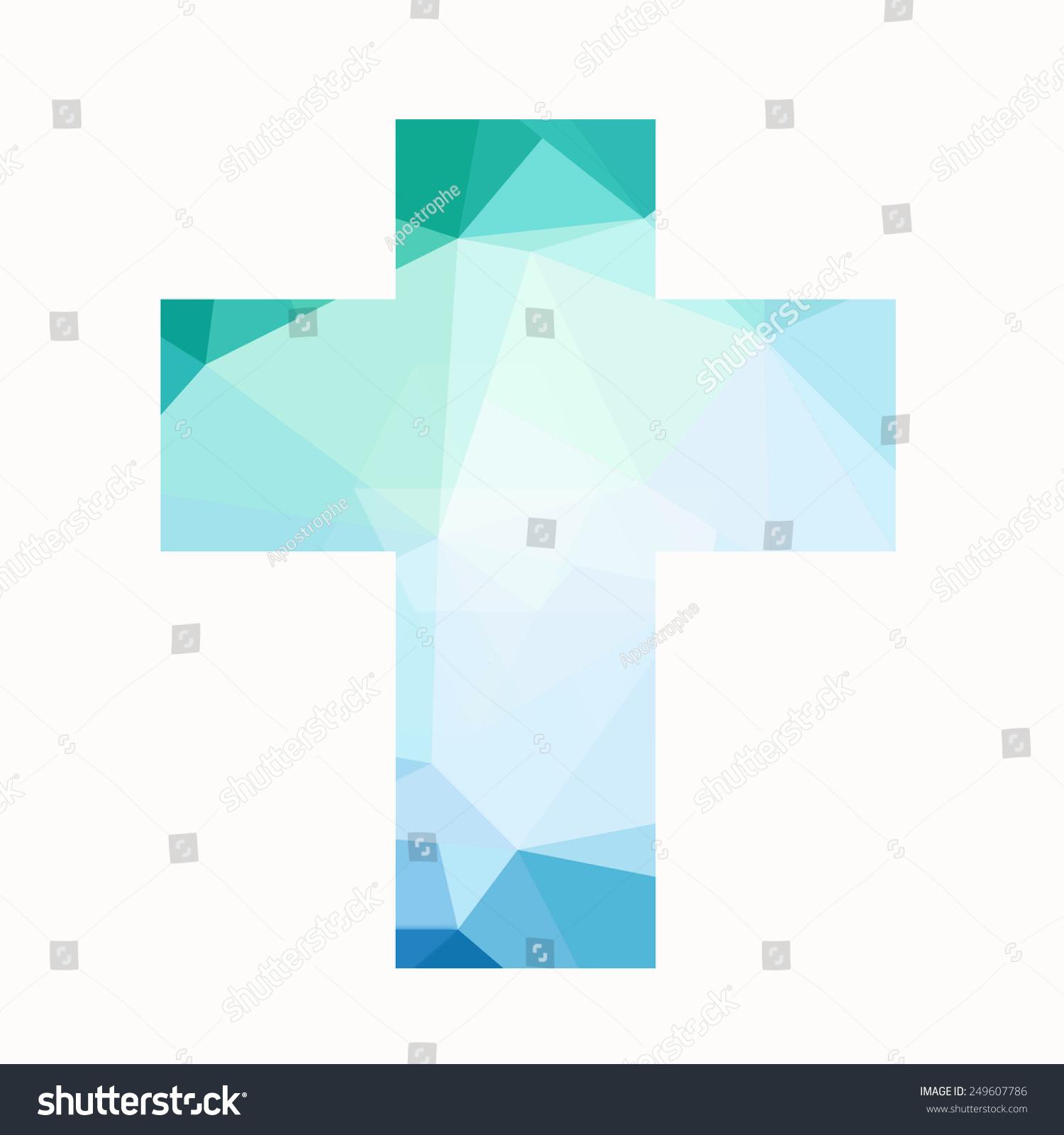 Easter Cross Clip Art Isolated On Stock Illustration 249607786 ...