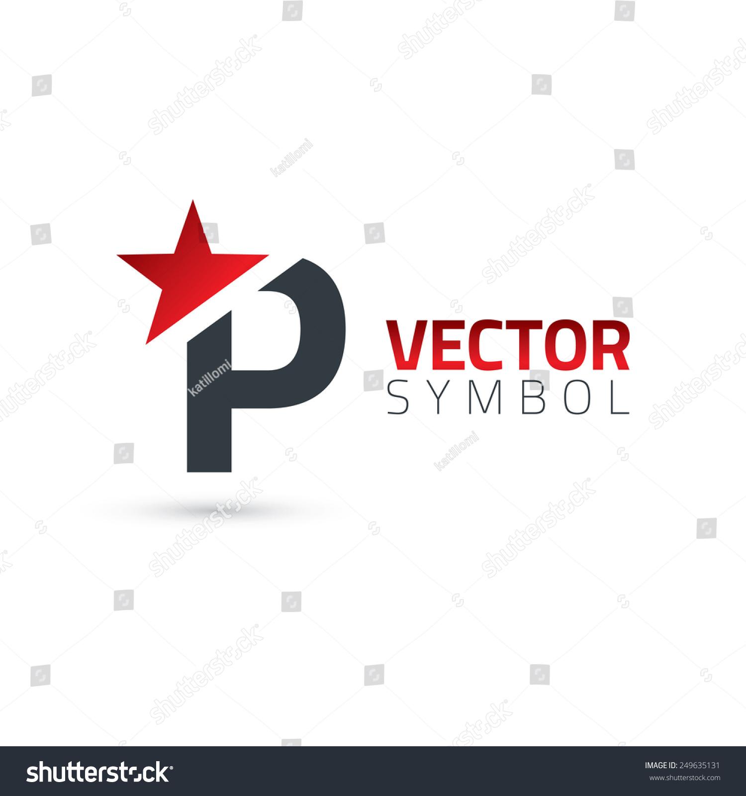Vector graphic elegant sliced alphabet symbol stock vector vector graphic elegant sliced alphabet symbol with star element on top letter p biocorpaavc