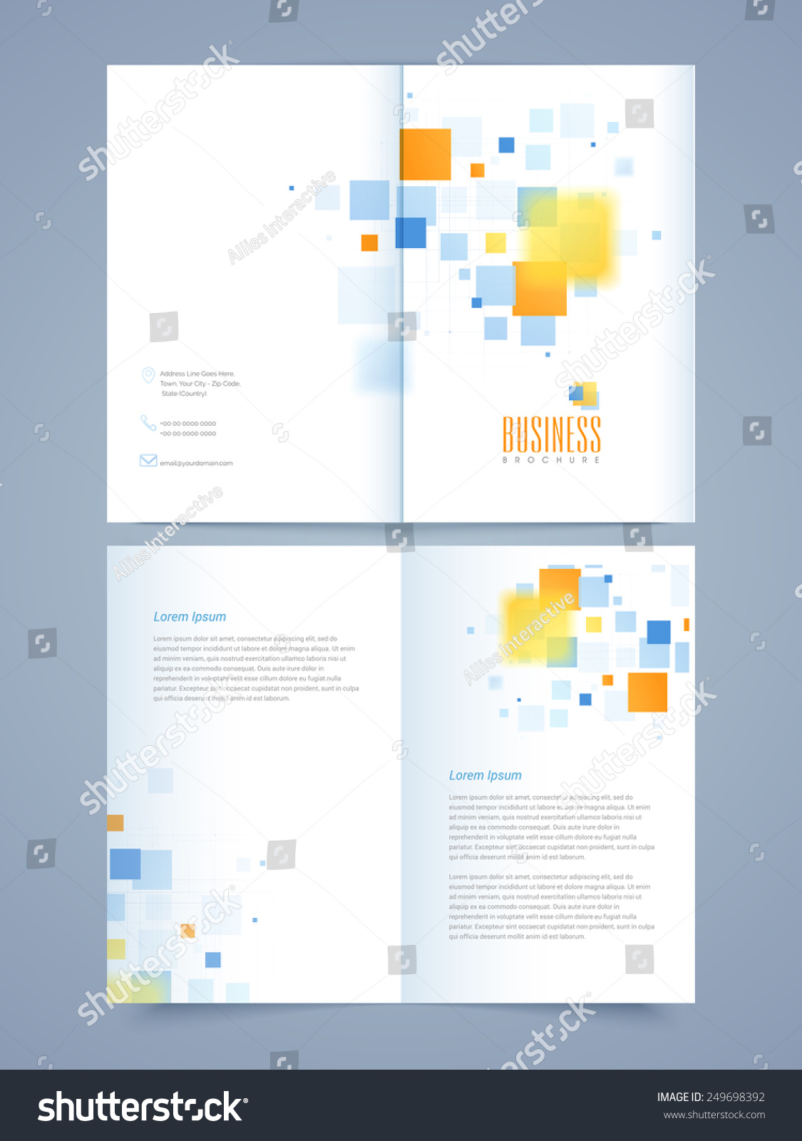 2 page brochure template - professional business 2 page brochure template or flyer