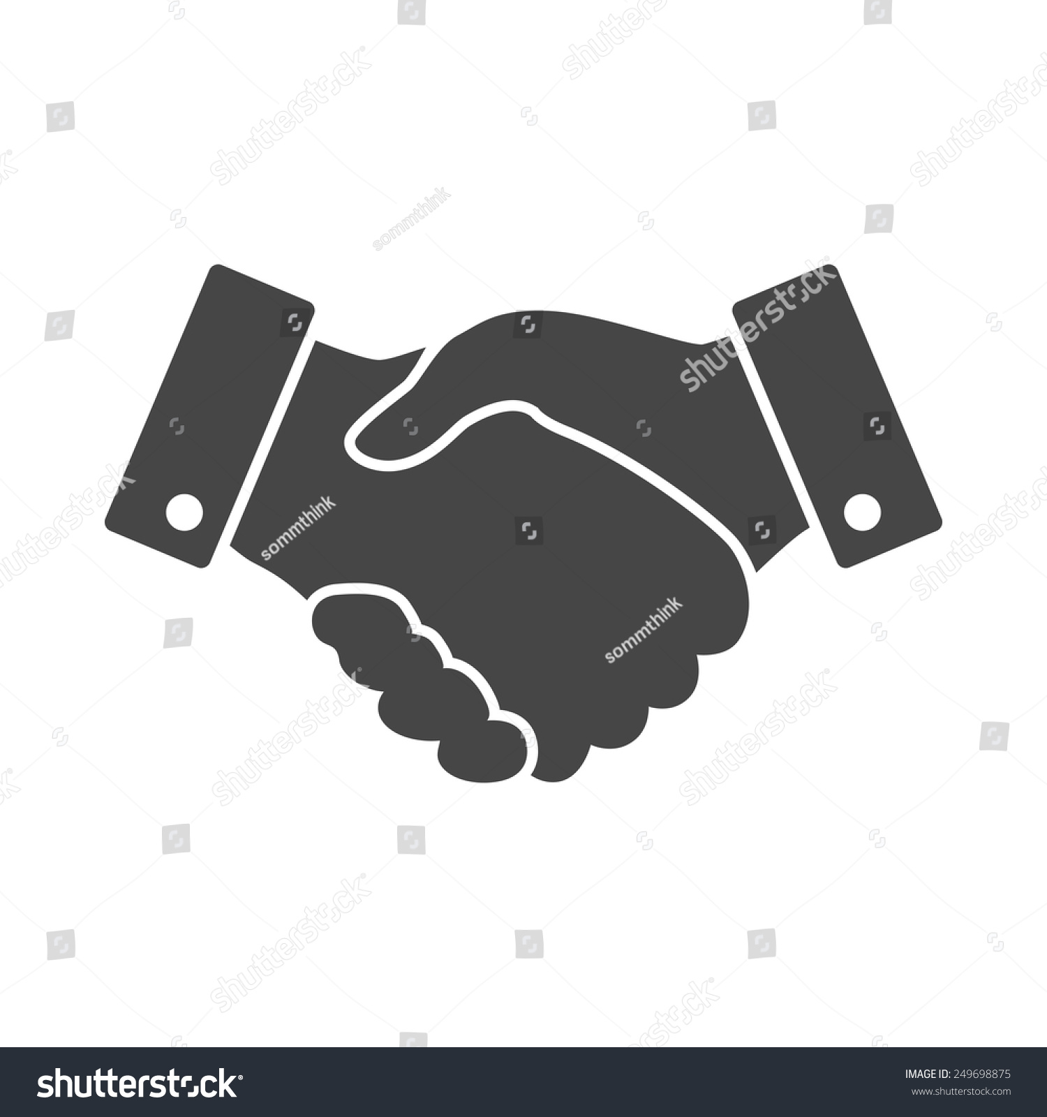 Black Handshake Vector Icon Design Business Stock Vector ...