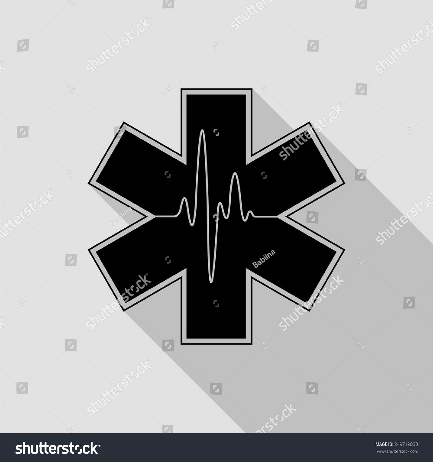 Medical Symbol Emergency Life Star Icon Stock Vector 249719830