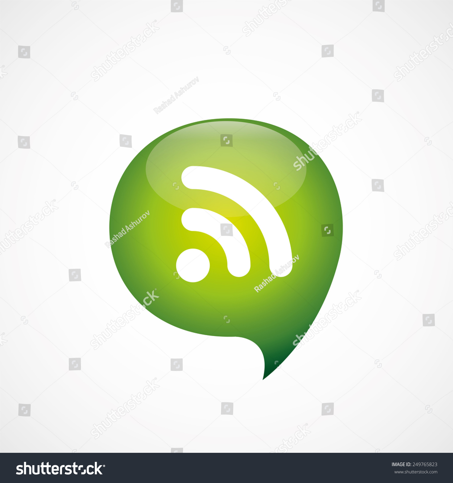 Wi Fi Icon Green Think Bubble Symbol Stock Illustration 249765823