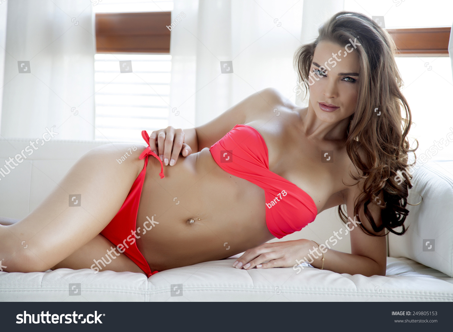 a65ad42e30 Beautiful and sexy young adult pretty… Stock Photo 249805153 ...