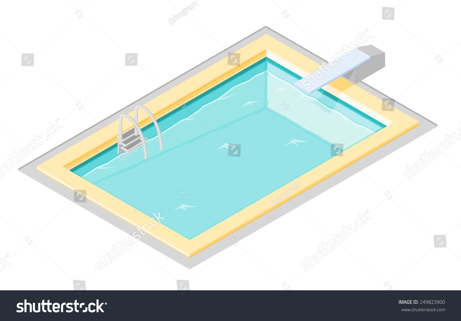 Vector swimming pool diving board swimming stock vector 249823900 shutterstock for Swimming pool diving board tricks