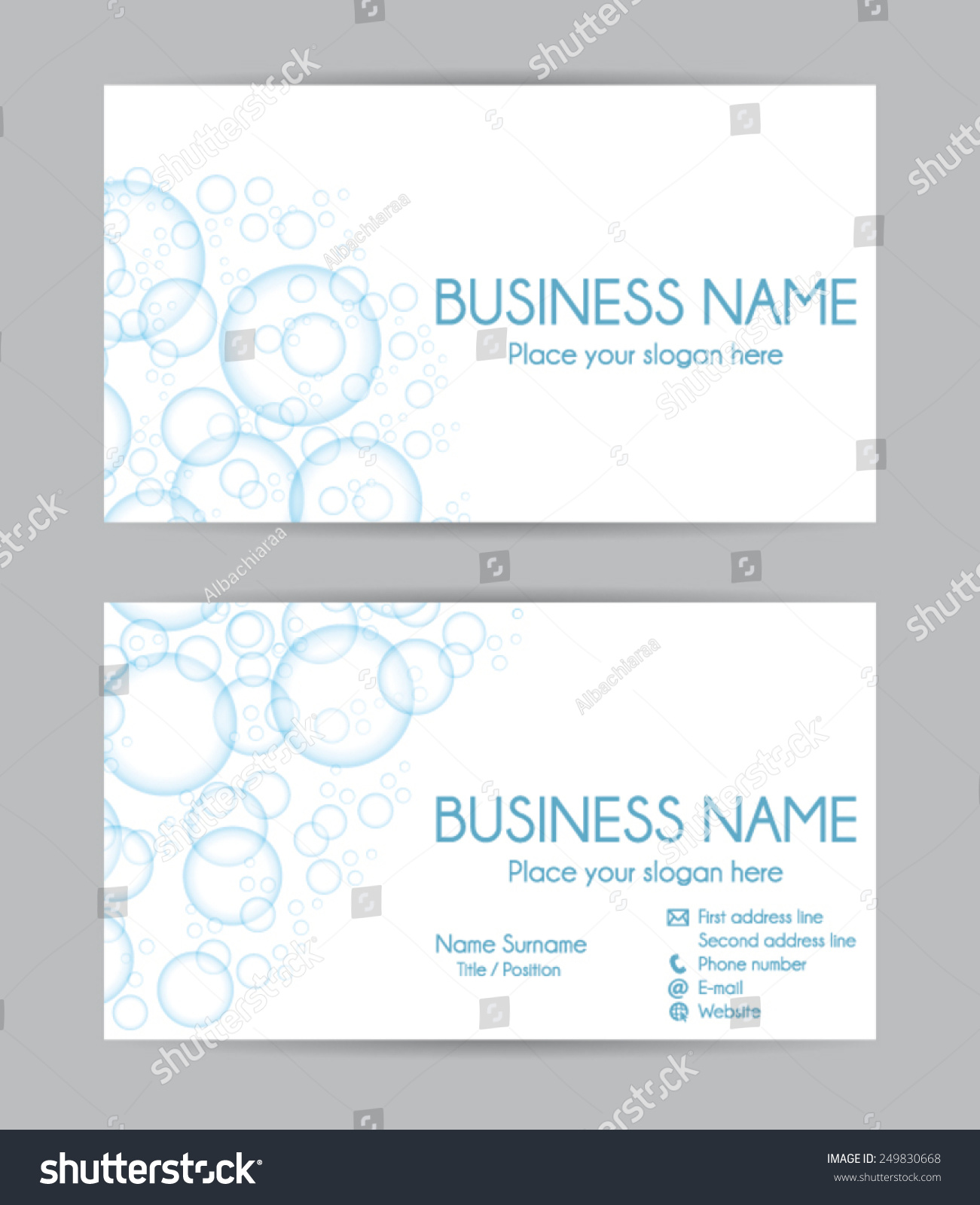 fresh stock of business card front and back business cards