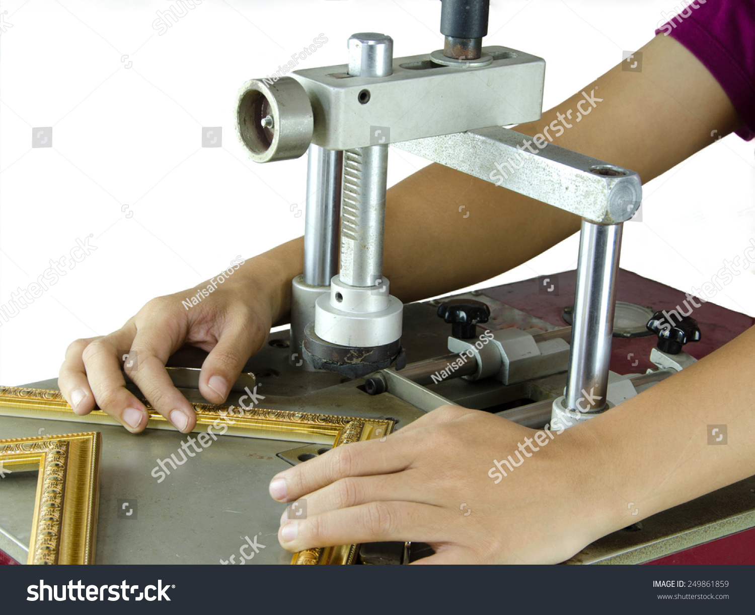 Framing Tools Paint Frame Put Together Stock Photo (Safe to Use ...