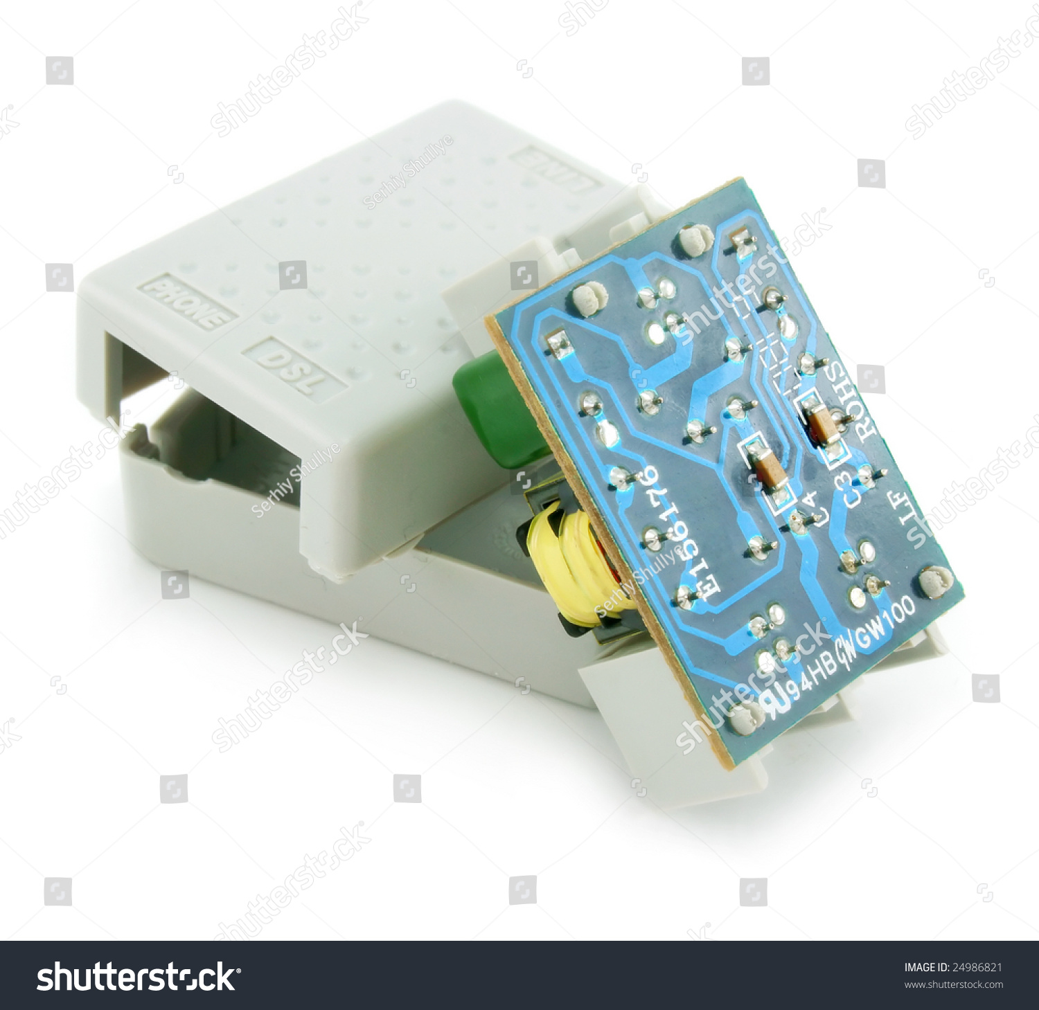 ADSL Splitter Electric Circuit Isolated On Stock Photo (Edit Now ...