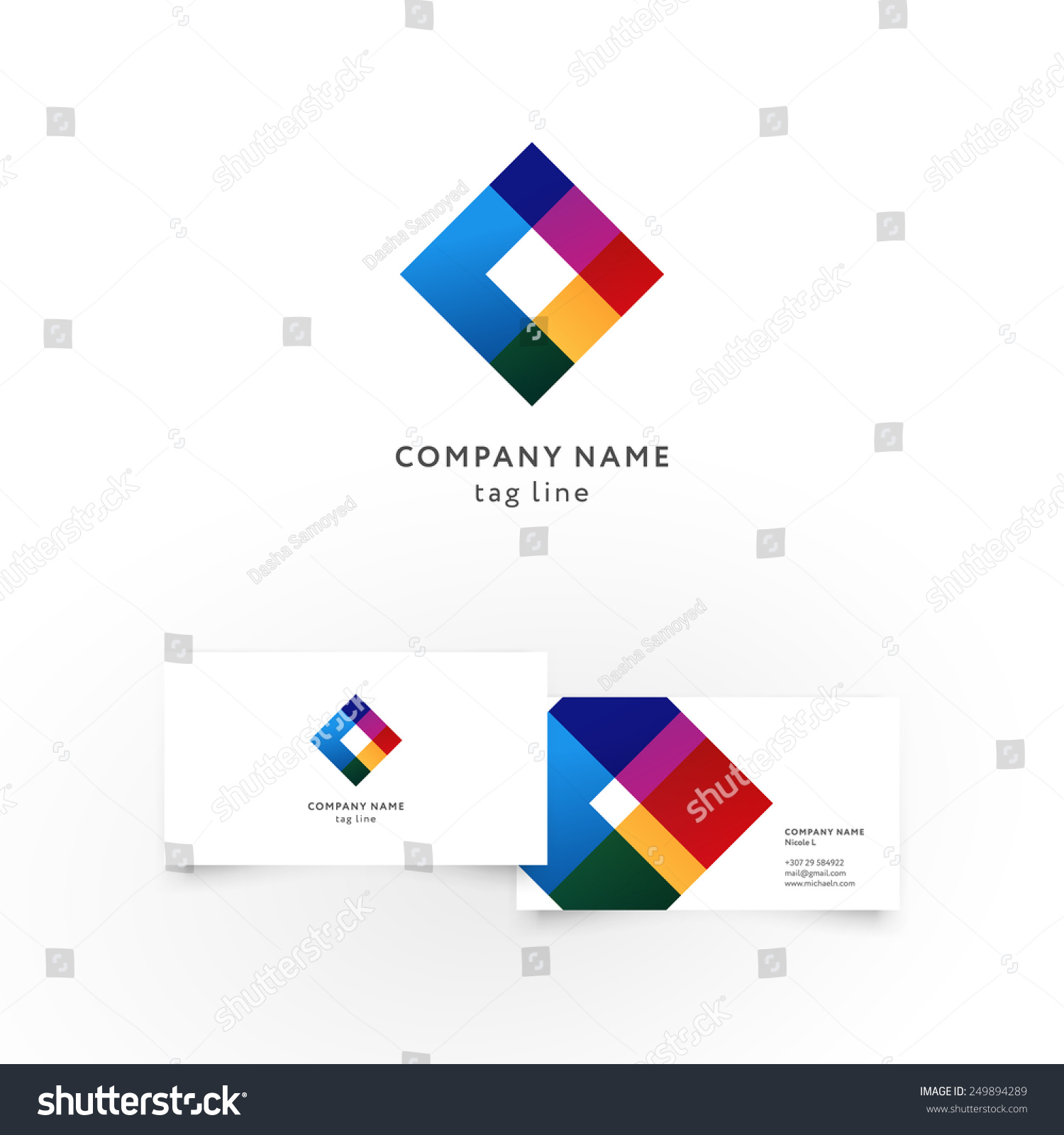 modern icon design element business card stock vector