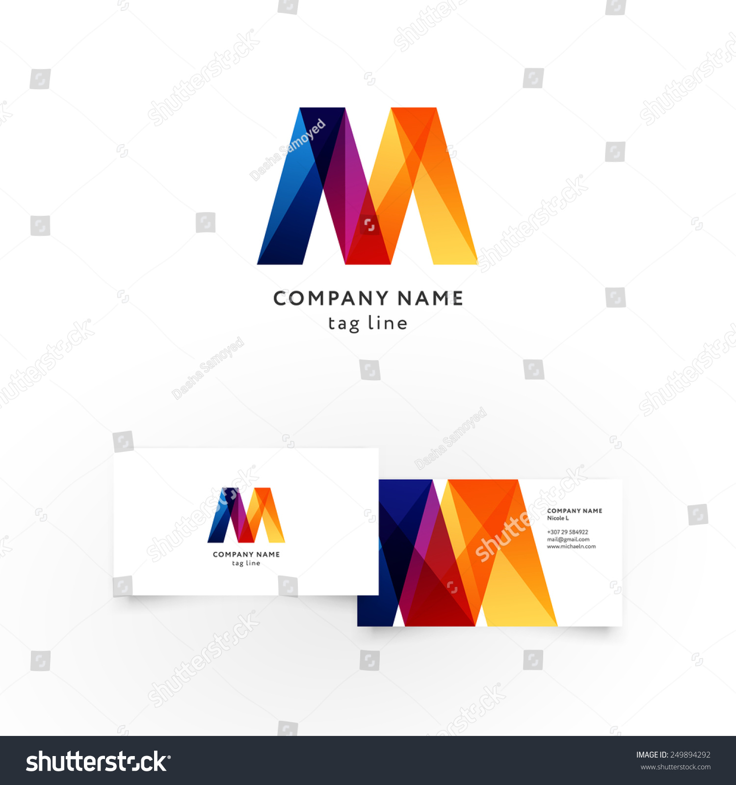 Modern icon design m shape element stock vector 249894292 modern icon design m shape element with business card template best for identity and logotypes magicingreecefo Choice Image