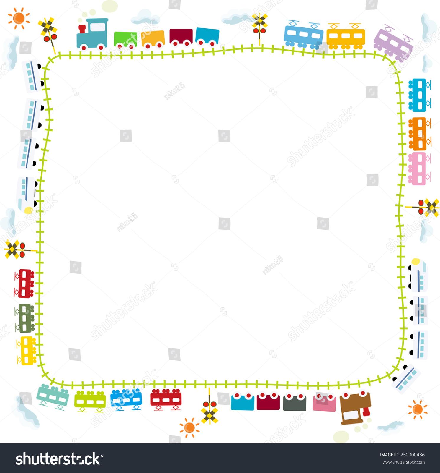 Child Train Frame Illustration Stock Illustration 250000486 ...