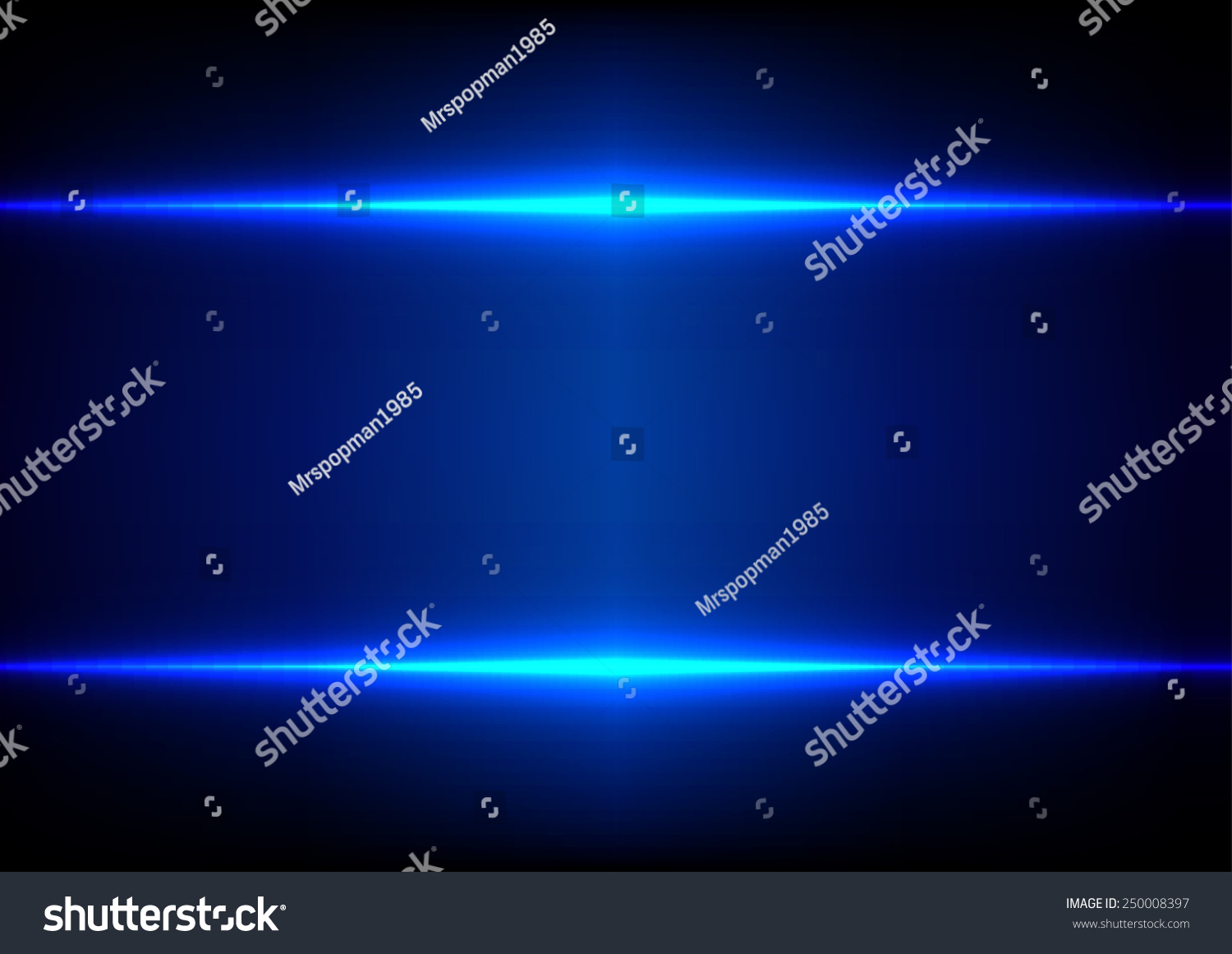 Abstract Technology Background With Light Effect: Abstract Blue Light Effect Background Stock Vector