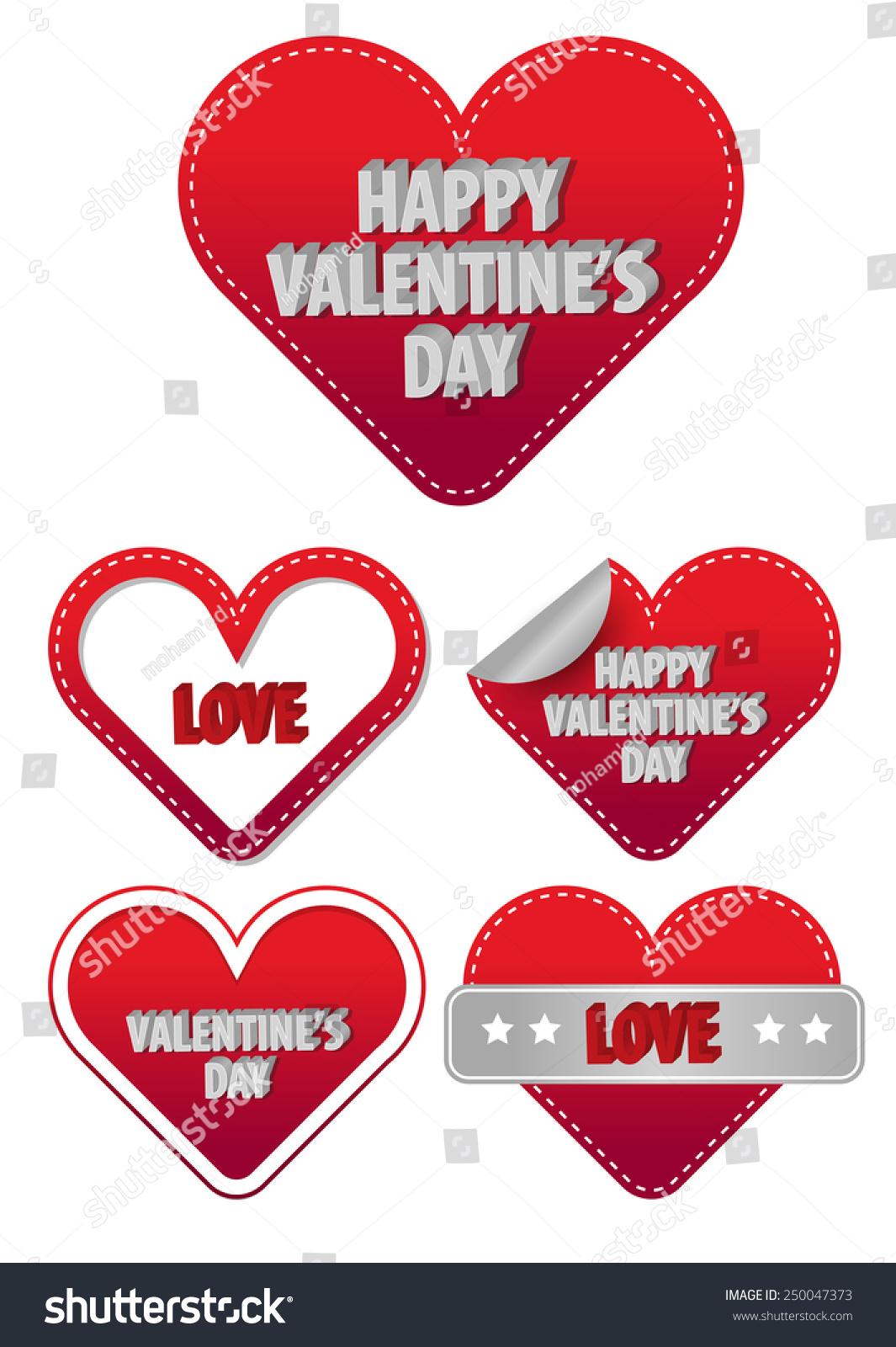 valentines day stickers vector - Valentines Day Stickers
