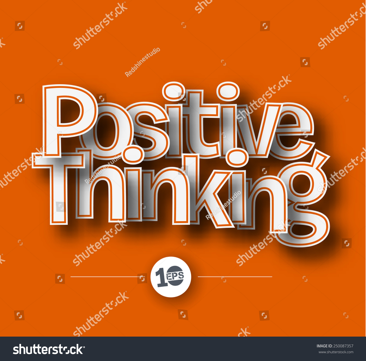 Positive Thinking Text Made Of 3d Vector Design Element ...