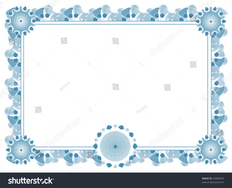 Blank Certificate Template Vector 25009075 Shutterstock – Blank Certificate Template